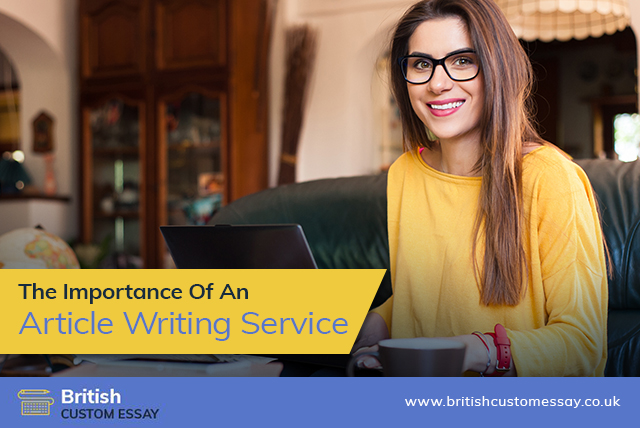 The Importance Of An Article Writing Service